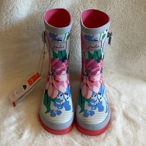 NWT Joules floral rain boots US size 12